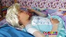 Doktor McStuffins Dondurulmuş Elsa karın ağrısı kontrolünde, Doc McStuffins Elsaya bir iğne
