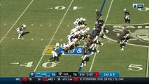 Los Angeles Chargers quarterback Philip Rivers goes back to tight end Hunter Henry for big gain