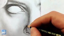 LUCY Scarlett Johansson   ✎ PORTRAIT ZEICHNEN   Speed drawing painting tutorial zeichnen lernen