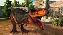 Dinosaurs Battle | Tyrannosaurus Vs Raptors ( Living in unity gives happiness )