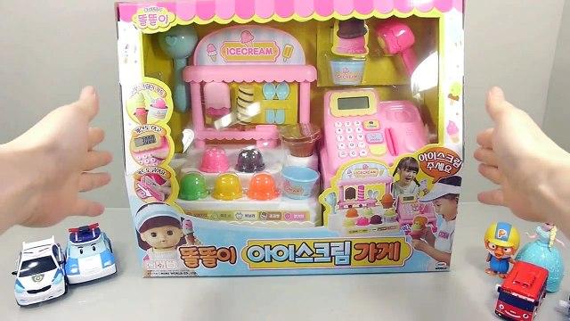 똘똘이 아이스크림 마트 계산대 놀이 폴리 뽀로로 타요 겨울왕국 또봇 장난감 Ice Cream Shop Market Cash Register toy Игрушки Toys