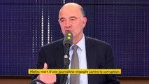 """""""Comme commissaire, je lutte contre la fraude (fiscale). C'est un combat que nous ne pourrions pas mener sans ces journalistes"""" Moscovici"""