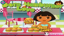 DORA THE EXPLORER - Doras Hamburguer Cooker with friends Diego, Swiper | Dora Game