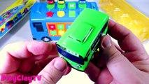 Çocuklar ve bebekler otobüsler karikatür Tayo küçük otobüs açık yeni oyuncaklar