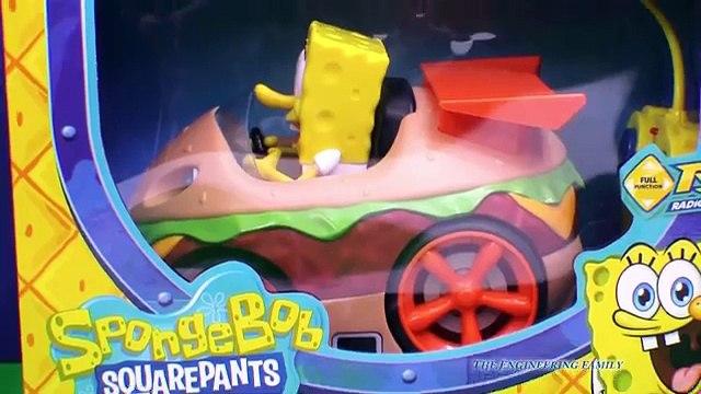 SPONGEBOB Nickelodeon Spongebob Squarepants Krabby Patty Remote Control Car Toys Video