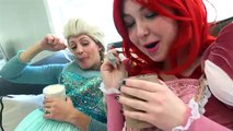 Fat Elsa and Fat Ariel and Spiderman vs Harley quinn and Giant candy vs pink spidergirl gym prank