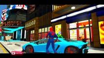 COLORS LAMBORGHINI CARS PARTY & COLORS SPIDERMAN NURSERY RHYMES SONGS FOR CHILDREN WITH ACTION