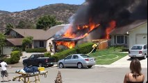 Firefighters Attack Fully Involved Structure Fire
