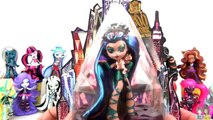Monster High BOO YORK Playdoh Surprise Cake Toys, Doll with Nefera & Cleo De Nile / TUYC