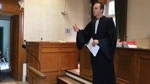 Le bâtonnier du tribunal Coutances - Avranches Laurent Marin prend la parole à Avranches