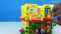 Peppa Pig Blocks Mega House LEGO Creations Sets With Masha And The Bear Legos Toys For Kids #4