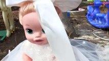 Baby Alive Bebek Gelin Oldu Gizli Cadı Ortaya Çıktı! Bebekler İçin Oyuncak Oyunu