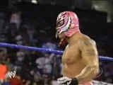 WWE Smackdown 03 Rey Mysterio makes her 619 on rhyno