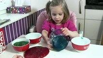 Glibber Schleim selber machen in eurer Wunschfarbe   DIY Slime Ooze