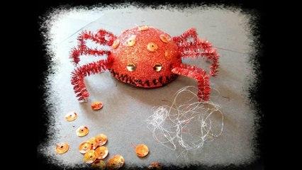 Voilà l'araignée d Halloween à faire avec des enfants !