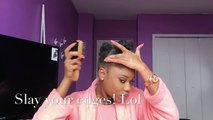 Curly Bangs and Faux Bun on Natural Hair !! || Protective Style || Hairstyles for Short 4 Hair Type