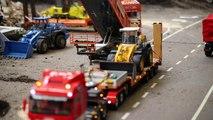 BRUDER RC Trucks LKW BAGGER hydraulic RC Excavators PARCOURS #6