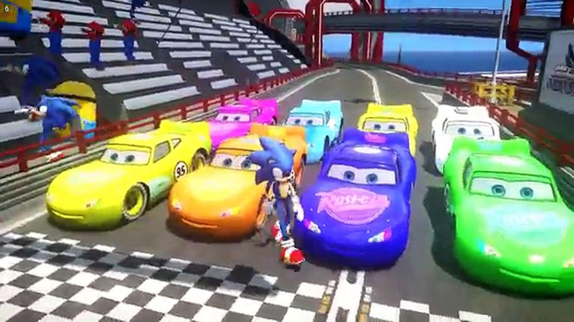Disney Pixar Sonic And Mario And Minions Dance Vs Lightning Mcqueen Childrens Cartoon Video Video Dailymotion