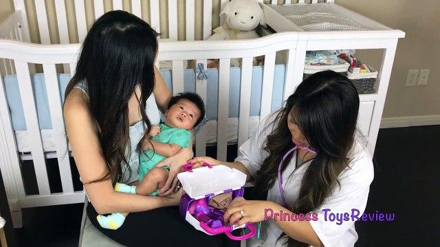 Doc McStuffins Princess T Bad Baby Check Up Gives Tummy Needle Shot Pretend Play Princess ToysReview