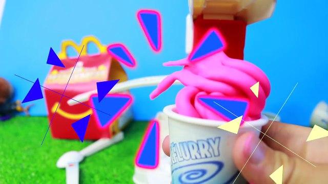 McDonalds McFlurry Ice Cream Shake Play-Doh McDonalds Play Food Maker DIY Superhero FAMILY
