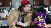 Takis Fuego and Hot Cheetos Challenge ft. Crew & Cody - (MadeWithSoyy)