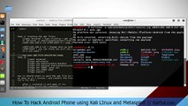 Hack android phone and control webcam || Kali LInux