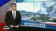 Palasyo, hinimok ang publiko na patuloy na magkaisa tungo sa kapayapaan; Plano para sa rehabilitasyon ng Marawi City, in