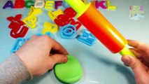ABC Play Doh Clay Play-Doh Playdough A B C Playdoh Alphabet Dough for Kids Fun Games Molds Video Kid