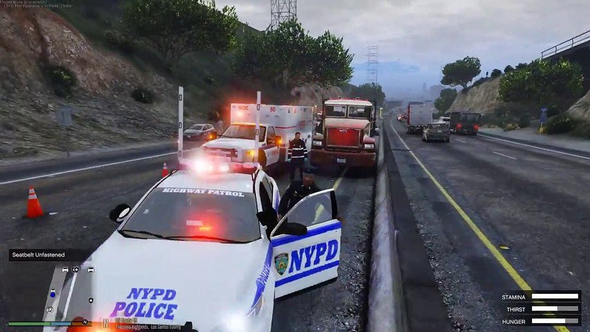 GTA 5 LSPDFR Police Mod 463 | NYPD Highway Patrol & New York State Trooper  Investigating A Hit & Run