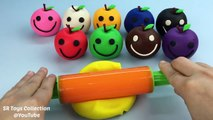 Learn Colors with Play Doh Apples Fun & Creative for Kids Jelly Beans Candy Ice Cream Surprise Cups
