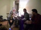 Improvisation saxo guitare chant JS yannick Michael