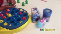 Lets Go Fishing Ryan Learn Colors Counting Open Frozen Chocolate Egg Surprise Shopkins Toys Slime