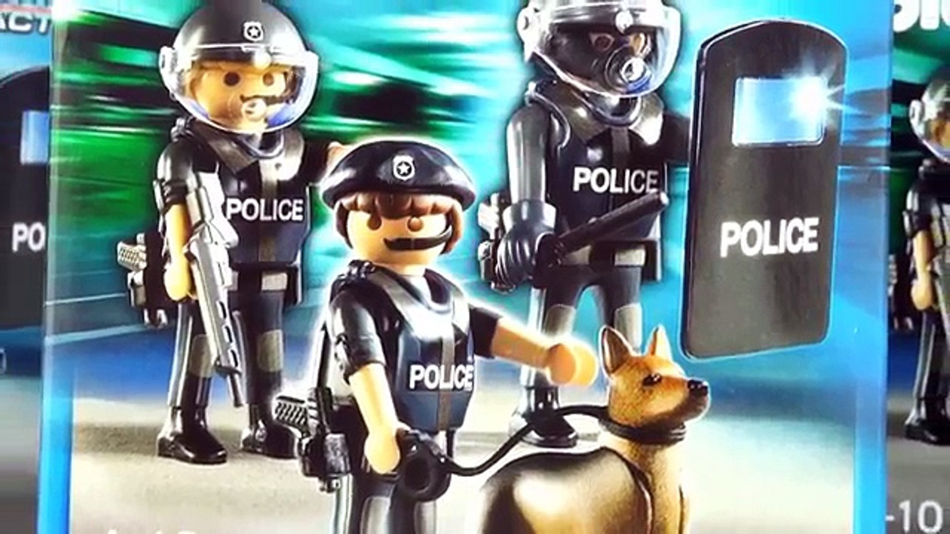 Ongekend Playmobil Police Special Forces Unit 5186 - 3 boxes with Police K9 CC-83