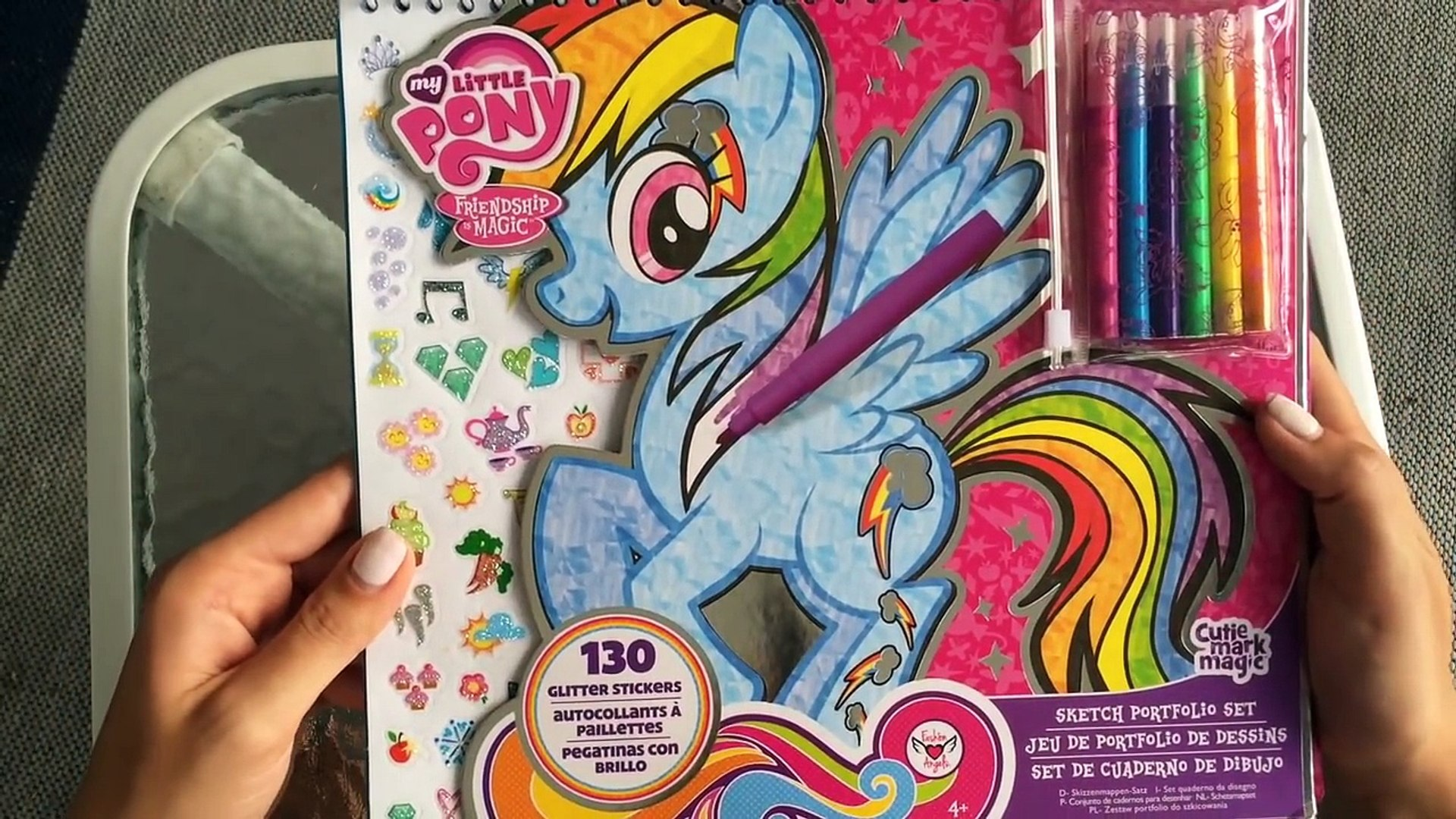 Friendship Is Magic My Little Pony Diamond Pony Coloring Book Stencils Stickers