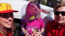 McDonalds vs Taco Bell Driving & Crashes Over Drive Thru Food Under Car Bad Baby IRL DisneyCarToys