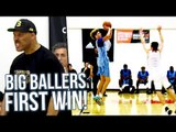 """LaMelo Ball vs UBER QUICK 5'3"""" PG! Melo Scoring w/ EASE in Big Ballers First Adidas Tourney Win!"""