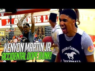 Kenyon Martin Jr IMPROVISES Self-Oop Off BACKBOARD! Sierra Canyon CAN'T MISS vs Long Beach Poly
