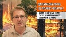 INCENDIOS forestales y CONCENTRACIÓN en Oviedo QUE NUN QUEIME, incendios nunca más