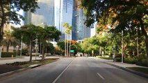 Driving Downtown - Miamis Millionaire Row - Miami Florida USA
