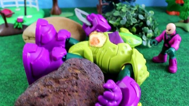 O Robô Malvado Captura Pig George e sua Turma - Novos Episodios da Familia Peppa em Portugues