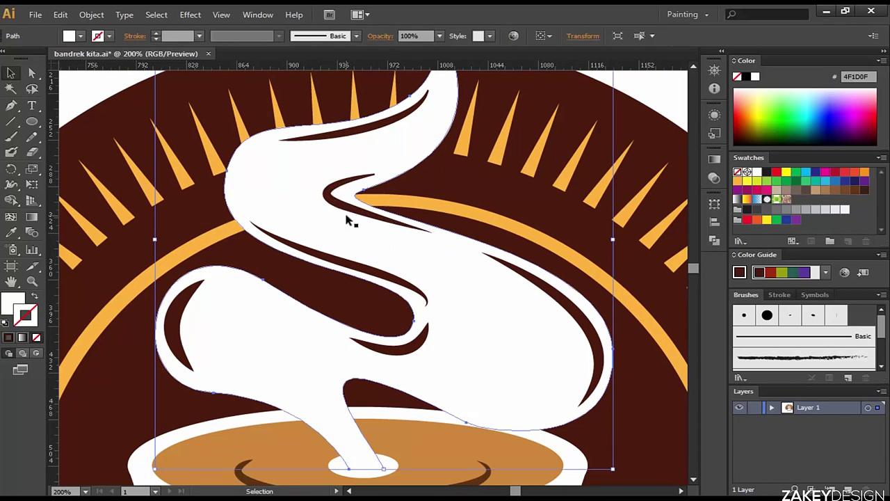 Adobe Illustrator – Coffee Vintage Logo Design Speedart