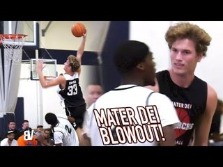 Reagan Lundeen Handles Mater Dei POSTER DUTY with Bol Bol Gone! Mater Dei BLOWOUT!