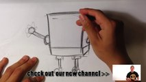 How to draw Gary SpongeBoB SquarePants characters cartoon