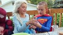 Superman Elsa VS Kylo Ren   How To Make DIY Dream Jars Big Friendly Giant BFG   Water Gun Painting