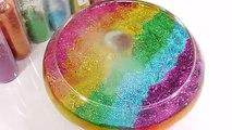 1000 Degree Ball VS Combine Glitter Rainbow Colors Slime Learn Colors Slime Glue Balloon