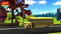 The Wheels on the Bus Go Round and Round Rhyme - Cartoon Animation Rhymes Songs for Children