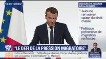 """""""Nous ne pouvons pas accueillir toute la misère du monde."""" Emmanuel Macron fait sienne la formule de Michel Rocard"""