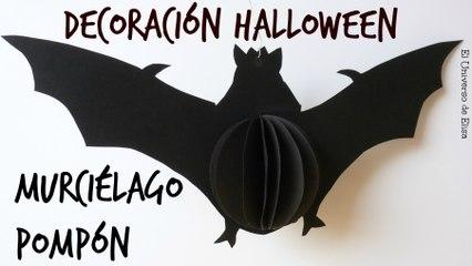 Cómo Hacer un Murciélago de Papel, Decoración para Halloween / El Día de los Muertos