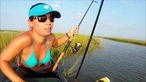 Targeting Redfish, Flounder, & Trout   Kayak Fishing
