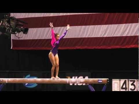 Brianna Brown -- Balance Beam -- 2012 Visa Championships -- Sr. Women -- Day 2